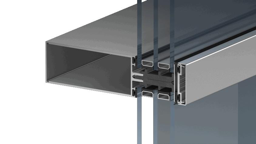 Фасадная система для котеджей Alutech ALT F 50 1 фото