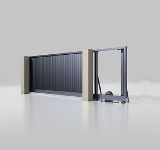 Откатные ворота ALUTEH серии Prestige для коттеджей фото