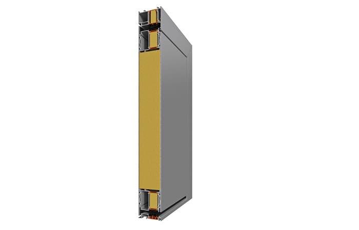 Дверь Alumil SD77 с HPL панелью фото